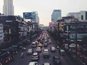 Trafikken kan være ekstrem i storbyene
